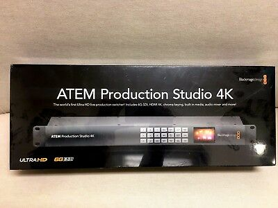 NEW Blackmagic Design ATEM Production Studio 4K Live Switcher SWATEMPSW04K FAST