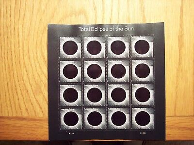 Us 2017 Solar #5211 Total Eclipse Of The Sun 16 Forever Stamp Sheet