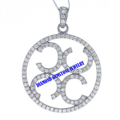 Vintage Style Jewelry !! Victorian Single Cut Diamond Pendant Sterling Silver