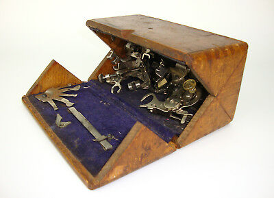 Antique Singer Wood Puzzle Box With Sewing Machine Attachments