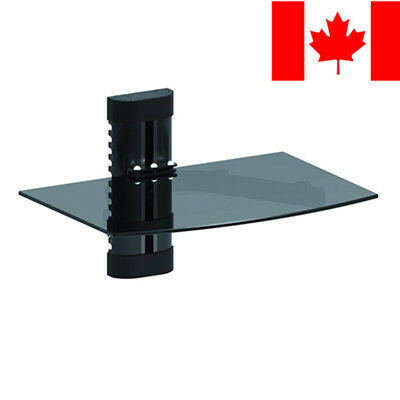 PrimeCables® Wall Mount Component Glass Floating Shelf AV DVD Game Console Xbox1