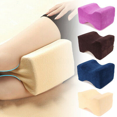 Memory Foam Knee Leg Pillow Bed Cushion Wedge Pressure Pain Relief Sleep Support