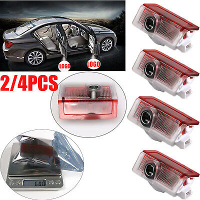 2/4PCS Mercedes-Benz LED Door Courtesy Logo Laser Projector Lights Ghost Shadow