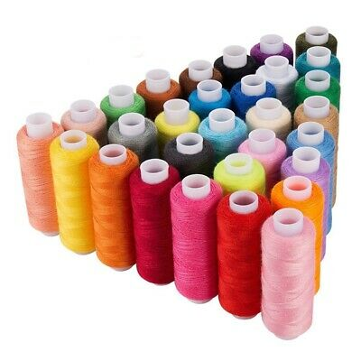 30 Spool Sewing Thread 250 Yard Each Assorted Spool Threads Sewing Bobbins R6J9