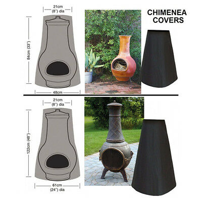 """Outdoor Patio Garden Waterproof Fire Pit Heater Chiminea Cover Protector 24""""x48"""""""
