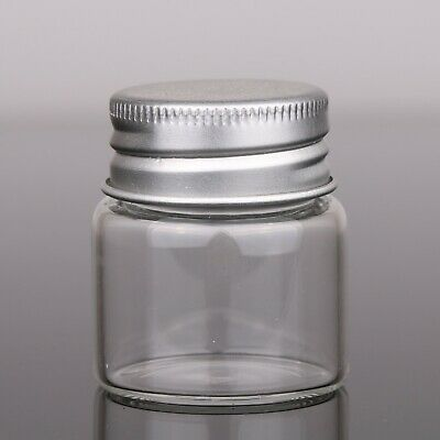 25pcs 50ML Clear Glass Bottles Candy Jars Wish Vials with Aluminium Lid Stopper