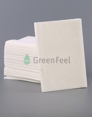 Folded Paper napkins GreenFeel 200 White Hand Towels Dispenser Napkin Recyclable
