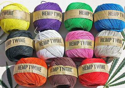 Organic HEMP TWINE / HEMP CORD -     1MM- 130 Metre (430 ft)   BALL