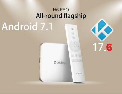 Android 7 TV Box Zidoo H6 Pro Quad-Core 2G/16G Dual Band WiFi HDMI KD v17.5