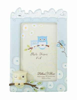 "Owl 4 x 6"" Picture Photo Frame Baby Showers Christening Gifts"