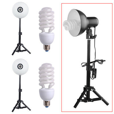2pc Photo Studio Kit Continuous Lighting Lamp Shade+Light Stand For Softbox Tent