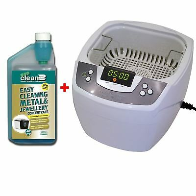 James Products 80W Digital Timer Ultrasonic Cleaner + 1L Sea Cleaning Fluid New