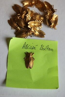 Ornement laiton repoussé abeille empire art decoratif