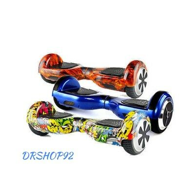 "Hoverboard 6.5"" Luci Led E Bluetooth Speaker Self Balance  Overboard Monopattino"