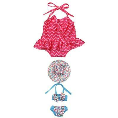 2 Set Adorable Doll Swimsuit Swimwear Outfit for 18'' American Girl Doll Clothes