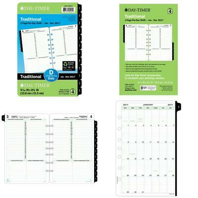 Day-Timer Daily Planner Refill 2017 One Page Per Day Classic 5-1/2 X 8-1/2