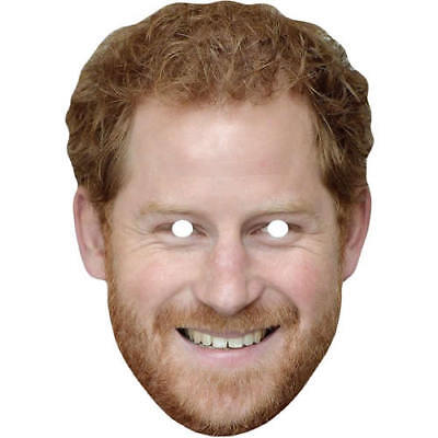 Prince Harry Royal Celebrity Card Mask - All Our Masks Are Pre-Cut!