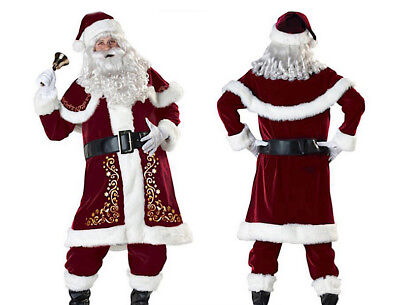 Vestito Costume Babbo Natale Cosplay Santa Claus Christmas Suit SANTC04 P