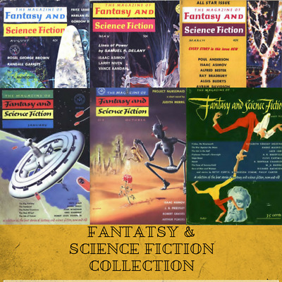 FANTASY & SCIENCE FICTION |Pulp Magazine 395 Rare Vintage Magazines ~ 1 Data DVD