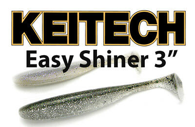 """Keitech Easy Shiner 3"""" soft body paddle tail swimbait bass lure"""