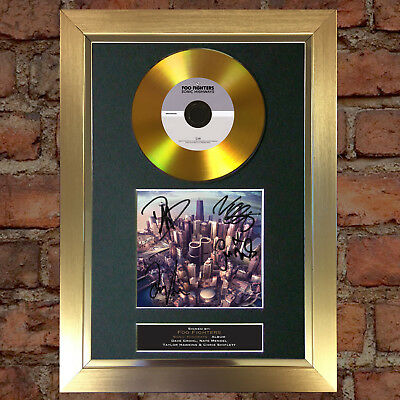 GOLD DISC FOO FIGHTERS Signed CD Mounted Repro Autograph Print A4 109