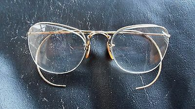Pair of Vintage Bausch & Lomb 1/10 -12K Gold Filled Eyeglasses - Spectacles