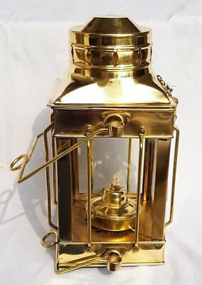 Vintage Brass Oil Lamp Nautical Lamps Maritime Ship Lantern-Anchor Boat Light