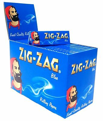 Full Box of 100 Booklets Zig Zag Blue Standard Rolling Paper Slow Burning £14.49