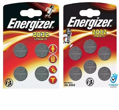 10 x Energizer CR2032 3V Lithium Coin Cell Battery 2032, DL2032, BR2032, SB-T15