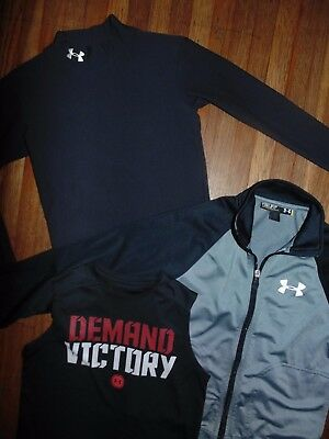 ~ Under Armour ~ Lot of 3 ~ Zip Jacket & Shirts ~ Size Youth Small ~ Great Shape