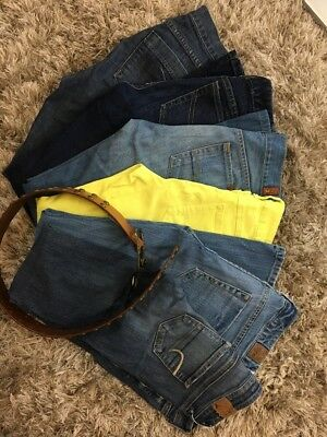 Lot Of 6 Jeans And 1 Belt Womens Size 0 Different Brands