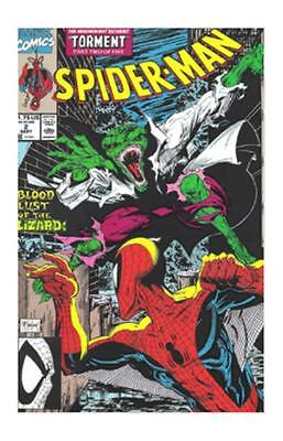 SPIDER-MAN #2 Sept 1990 Marvel Comic Book McFarlane Lizard Torment NOS