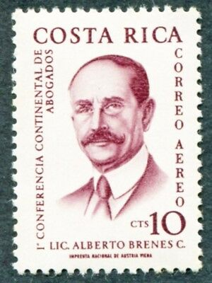 COSTA RICA 1961 10c SG616 mint MNH FG Continental Lawyers' Conference AIR #W47