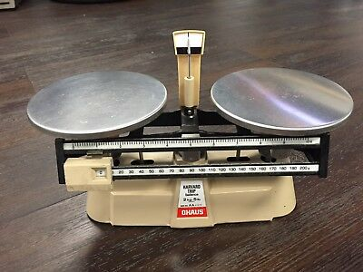 OHAUS 2kg-5lb Beam Scale Harvard Trip Scientific Laboratory Balance AA 27875