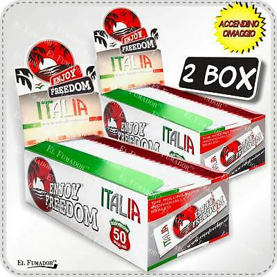 5000 CARTINE ENJOY FREEDOM ITALIA Corte - 2 Box 100 Libretti -Bianche Tipo A