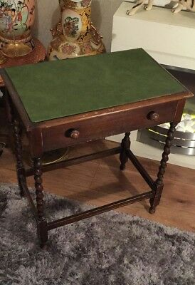Vintage Antique Mahogany Wooden Hall Coffee Table With Draw