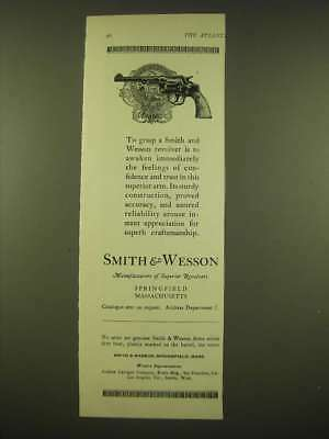 1924 Smith & Wesson revolver Ad - City of Chicago Police Badge