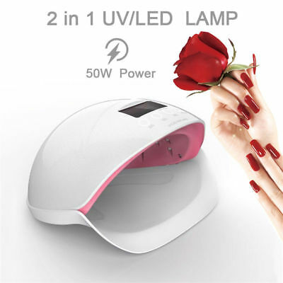 50W Professional UV LED Nail Polish Dryer Light Gel Drying Curing Manicure Lamp