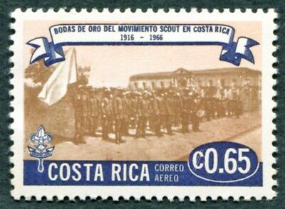 COSTA RICA 1968 65c SG803 mint MH FG Scout Movement Golden Jubilee AIRMAIL #W47