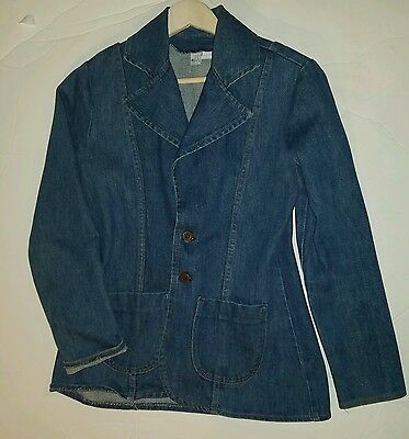 Vintage Wrangler Ladies Denim Jacket Fitted Women Made In Usa