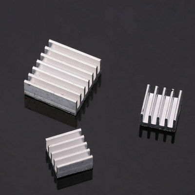 3Pcs Aluminum Heat Sink Cooling Cooler Adhesive Sticky Set für Raspberry Pi 2 3