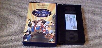 The Three Musketeers WALT DISNEY CLASSIC UK PAL VHS VIDEO 2004 Mickey Mouse NEW
