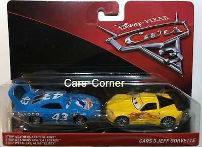 Disney Pixar Cars 3 The King aka. Strip Weathers #43 & Jeff Gorvette #24 NEU OVP