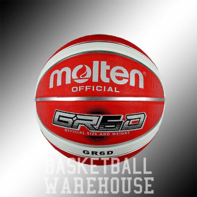 Molten GR6D Red Outdoor Rubber Basketballs | Free Shipping6