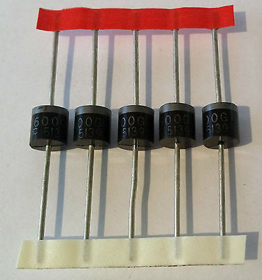 5pcs P6000M 1000V 6A Silicon Rectifier Diode
