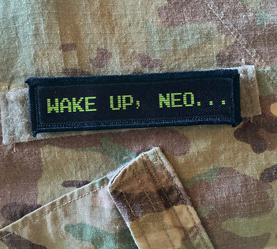 1x4 Wake Up Neo The Matrix Movie Morale Patch Tactical Military USA Hook  Army