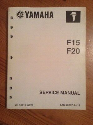 Yamaha F15 F20 Outboard Motor Service Repair Shop Manual 6AG-28197-IJ-11