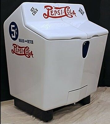 ONE Rare Vintage 1940's Pepsi:Cola Heintz Gullwing Pop Refrigerated Cooler