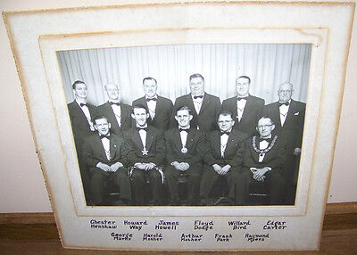 c1950 VINTAGE ROCHESTER NY IOOF ODD FELLOWS LODGE GROUP PHOTO
