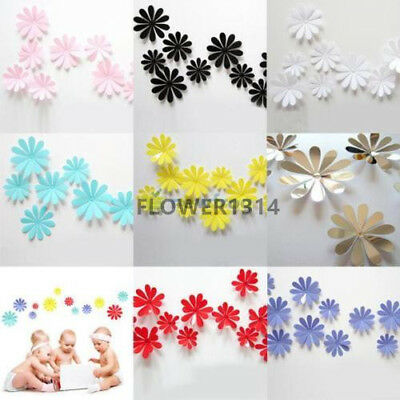12pcs Art Design Decal Wall Stickers Room Decorations 3D DIY Flowers Home Decor